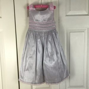 Laura Ashley Plaid Dress Pink Gray Size 3T